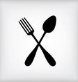 spoon gray vector image