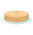 Stack of pancakes icon cartoon style vector image