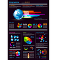 Infographics page vector image vector image