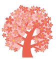 concept decorative pink tree blossom vector image vector image