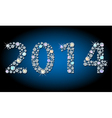 Shiny 2014 year-number vector image