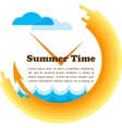 summer time yellow clock with place for your text vector image vector image