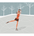 Girl on skates vector image
