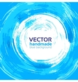 beautiful handmade blue background for your text vector image vector image