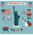 4th of July Independence Day the United States vector image