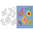 Coloring Book Of Set Nice Different Rombs vector image