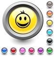 Smiley round button vector image vector image