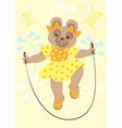Bear Girl in yellow dress vector image