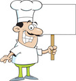 Cartoon chef holding a sign vector image