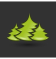 Creative New year tree vector image