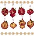 Cute christmas design elements vector image