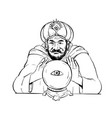 fortune teller crystal ball drawing vector image