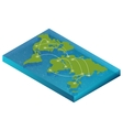 Map world isometric concept 3d flat vector image