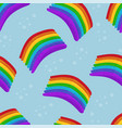 rainbows pattern on blue sky vector image