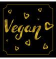 vegan logo card vector image