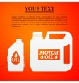 Blank plastic canister for motor oil flat icon on vector image