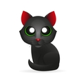 Black cat isolated on white background vector image