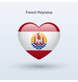 Love French Polynesia symbol Heart flag icon vector image