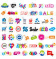 biggest collection of logos sale vector image vector image