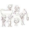 Kids grooming vector image