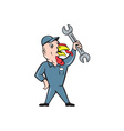 Turkey Mechanic Spanner Isolated Cartoon vector image vector image