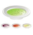 four soups vector image