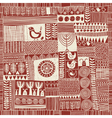 seamless pattern patchwork vector image vector image