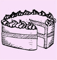 pound cake vector image vector image