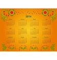 calendar grid 2014 vector image