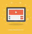Flat design business concept Video marketing vector image