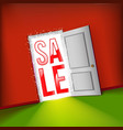 open door bright sale concept vector image
