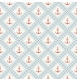 Seamless pattern of anchor shape and line vector image