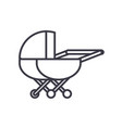 stroller line icon sign on vector image