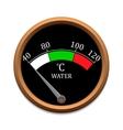 Temperature scale vector image