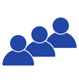 user cohort flat icon vector image