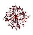 Hand drawn mandala flower vector image