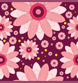 seamless pattern of flowers and circles vector image