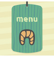 outline croissant icon modern infographic logo and vector image