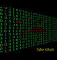 binary code hacker and wanna cry text security vector image