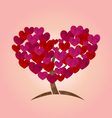 concept of tree with heart leaves for Valentines vector image vector image