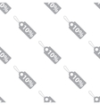 New Price tag seamless pattern vector image vector image