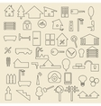 Real estate items linear icons vector image