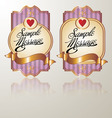 colored vintage label pink vector image