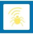 Radio spy bug icon vector image