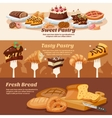 Pastry Banner Set vector image