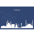 Ankara city skyline on blue background vector image vector image