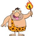 Happy Caveman Cartoon vector image vector image