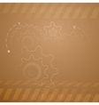 Background with rotating gears vector image