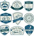 Bicycle Vintage Badges Set vector image