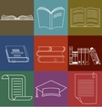 Book Icons Set Document and Paper signs - vector image